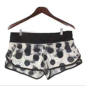 Lululemon Speed Shorts Seaside Dots, Size 8